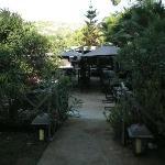 Zugang zum Restaurant Garten