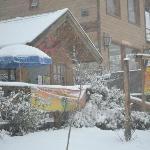 Nevando, pero adentro toda la calidez de su gente