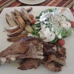 Cordero lechal - ensalada y champiñones super frescos!