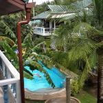 Vista della piscina dalla nostra terrazza