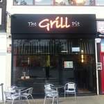 the grill pit overlooks the fountain in Wakefield city centre...