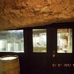 love their glass area to see where the barrels are storage with in the rocks