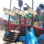 Pirate Ship at Water Lagoon
