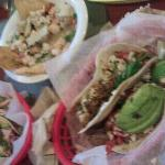 sitter day, more cerviche! the taco with tounge?? take a chance! tenderest, most flavorful meat!