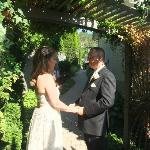 Exchanging vows before their best friends & familyh