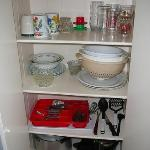 Supplies in the cupboard