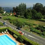 La piscina vista desde el solarium