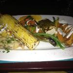 the vegetable plate at the Turquoise Room, La Posada's adjoining restaurant