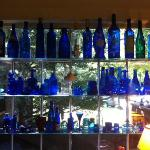 Blue bottles at Nauset House