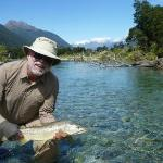 Brown trout, one of a number, caught during helicopter trip to west south island.