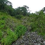 Landslide area, where we lost the trail for the first time