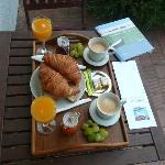 le super petit déjeuner avec les fruits du jardin