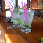 2 finished Mojitos - Tomas' specials - lovely too!!
