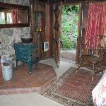 Honeymoon Room back door to the garden