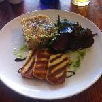 Main: Grilled Haloumi with Bulgar