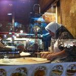 Turkish women preparing food for customers