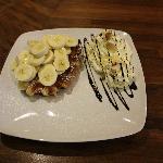 Banana Whipped Waffle