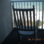 Rocking chair on balcony