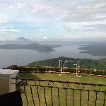 Awesome view from our room across Lake Taal