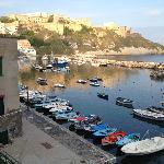 Corricella harbour looking towards the hotel