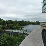 Hotel Hilton e o parque privativo