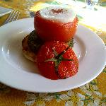 Breakfast fare - Tomato Volcano