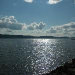 Late afternoon Lake Pepin from the breakwater in front of the Harbor View Cafe. 8/19/12