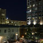 Night view from the parkade