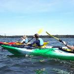 Kayaking with customers
