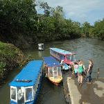 Boats for the river tour at Sarapiqui