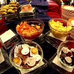 The terrific buffet spread for breakfast !
