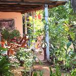le patio à l'abri du soleil