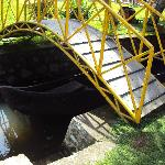 Bridge across canal in homestay