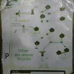 Plan d'accès aux cabanes