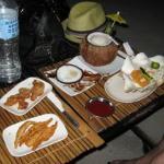 Kinilau fish and tempura squid