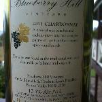 Wine label - back of bottle