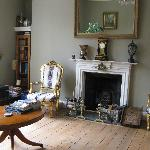 Georgian sitting room for guests' use
