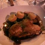 delicious duck with cherries and polenta, best dish in San Fran!