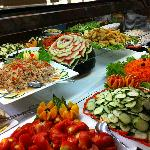 Selection of buffet food