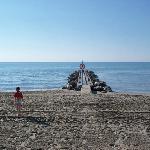 il pontile di fronte alla spiaggia privata