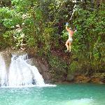 YS Falls rope swing