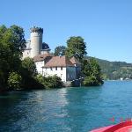 Le château de Duingt vue du bâteau