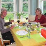 we cooked a chinese dinner for Anne and another guest
