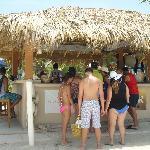 Crew Bar, beach front tikihut