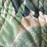 Strange, foul-smelling caked-on stains on bed covers