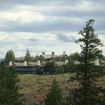 Lodge from interpretive trail on grounds