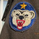 patch on the soldier's jacket