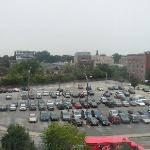 The view from our room: The parking lot