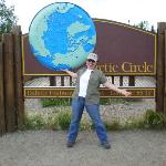 At the Arctic circle straddling the line above and below!! Right on the edge!
