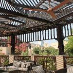 Open air sheesha lounge